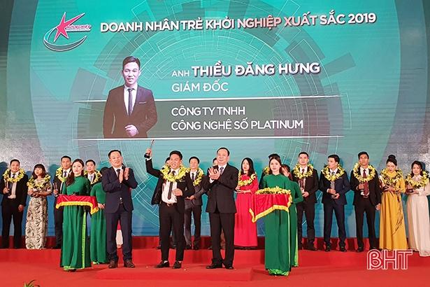 2 doanh nhân trẻ Hà Tĩnh nhận danh hiệu Doanh nhân trẻ khởi nghiệp xuất sắc toàn quốc 2019