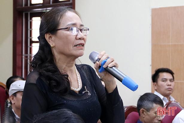 Lãnh đạo thành phố Hà Tĩnh đối thoại với bí thư, tổ trưởng tổ dân phố