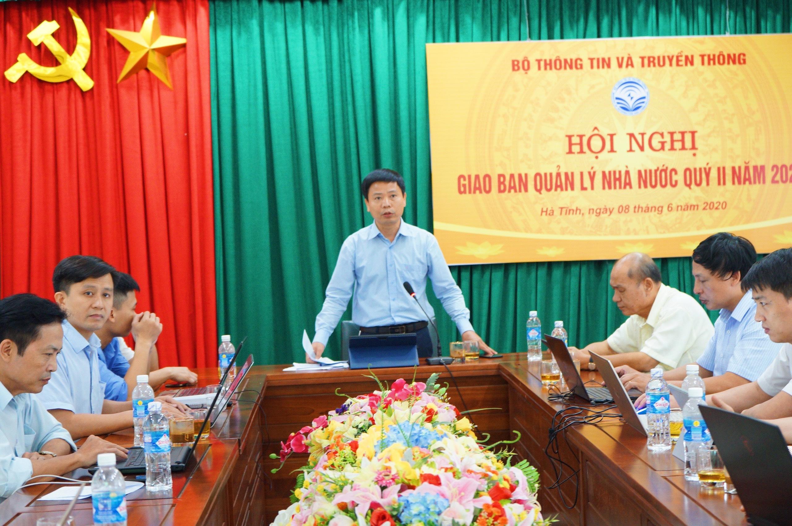 Bộ TTTT tổ chức hội nghị trực tuyến giao ban QLNN Quý II/2020