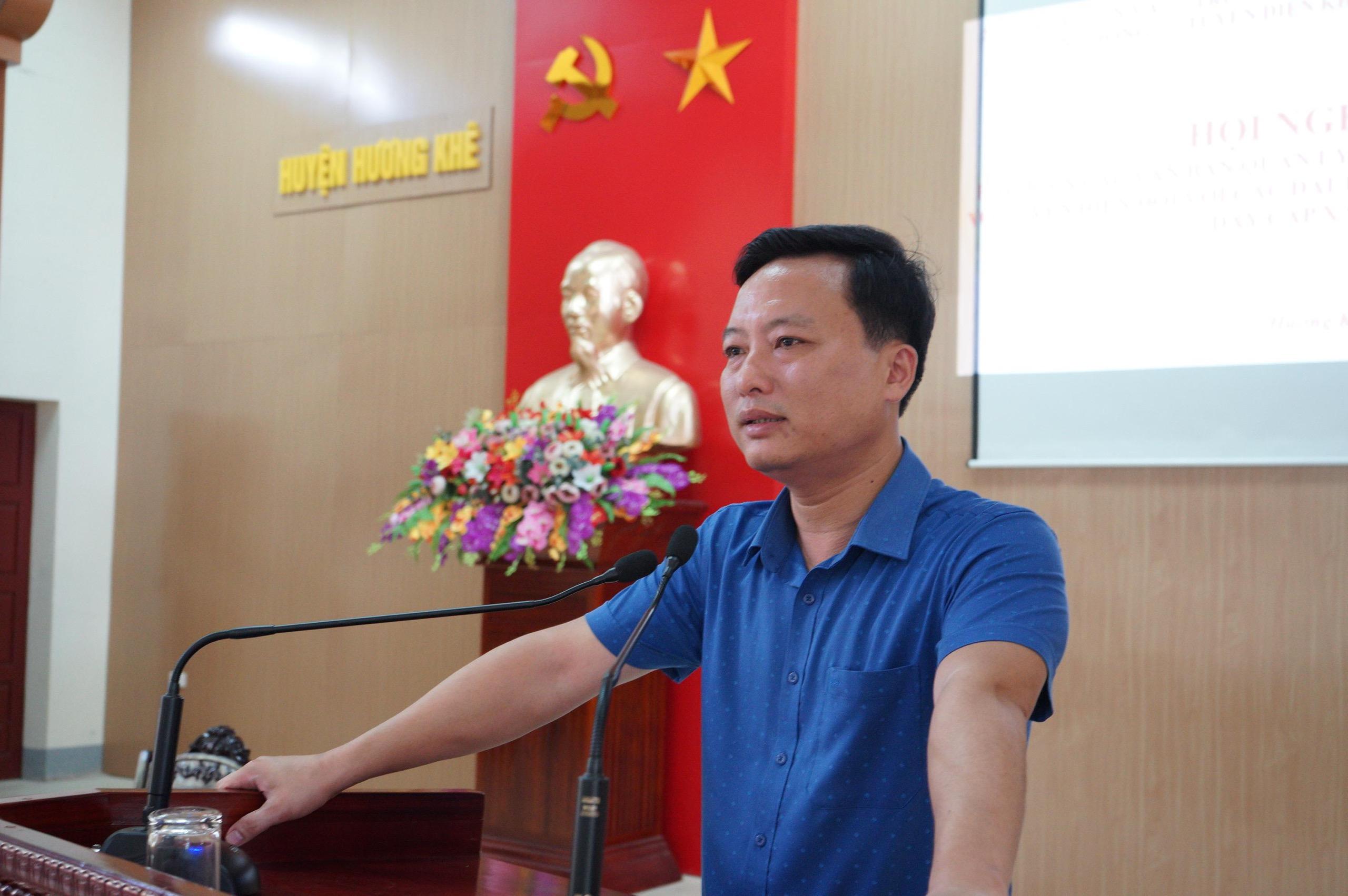 Hội nghị phổ biến các quy định về tần số vô tuyến điện cho cán bộ đài truyền thanh không dây tại huyện Hương Khê