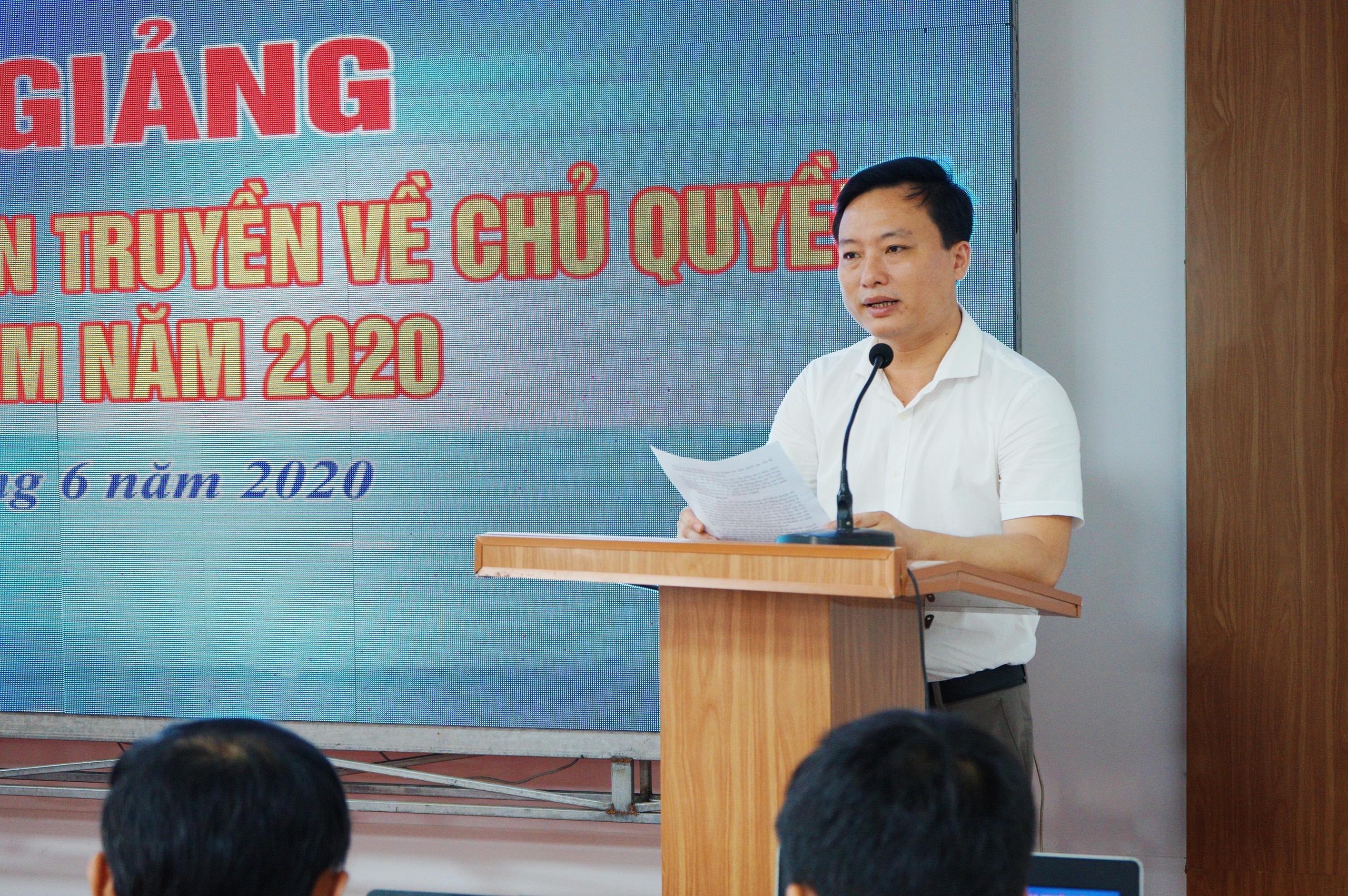 Tập huấn, định hướng tuyên truyền về chủ quyền biển đảo Việt Nam cho cán bộ phụ trách công tác truyền thông trên địa bàn tỉnh