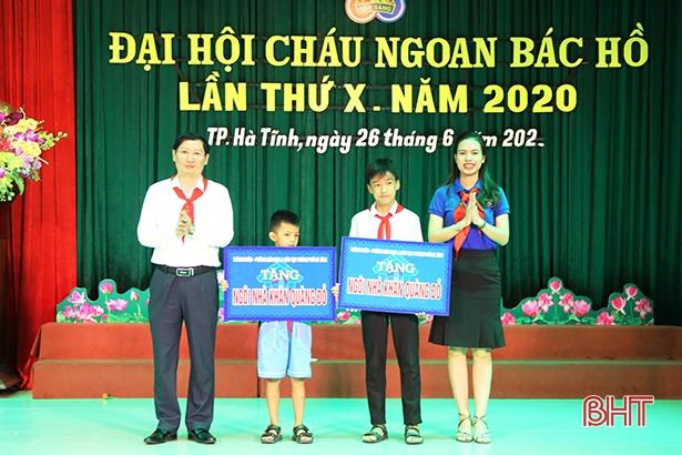 TP Hà Tĩnh tuyên dương 132 đội viên đạt danh hiệu Cháu ngoan Bác Hồ
