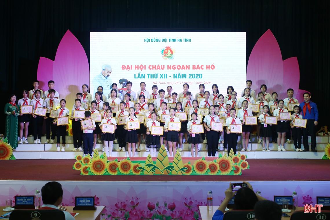 184 đội viên, thiếu nhi Hà Tĩnh xuất sắc nhận danh hiệu Cháu ngoan Bác Hồ