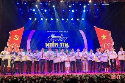 Hà Tĩnh được khen thưởng tại cuộc thi tìm hiểu 90 năm ngày truyền thống ngành Tuyên giáo