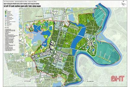 Tỷ lệ phủ kín quy hoạch phân khu đô thị Hà Tĩnh đạt gần 60%