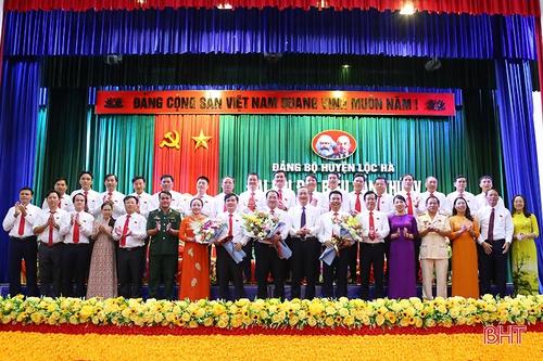 Đại hội Đại biểu Đảng bộ huyện Lộc Hà hoàn thành các nội dung, chương trình đề ra