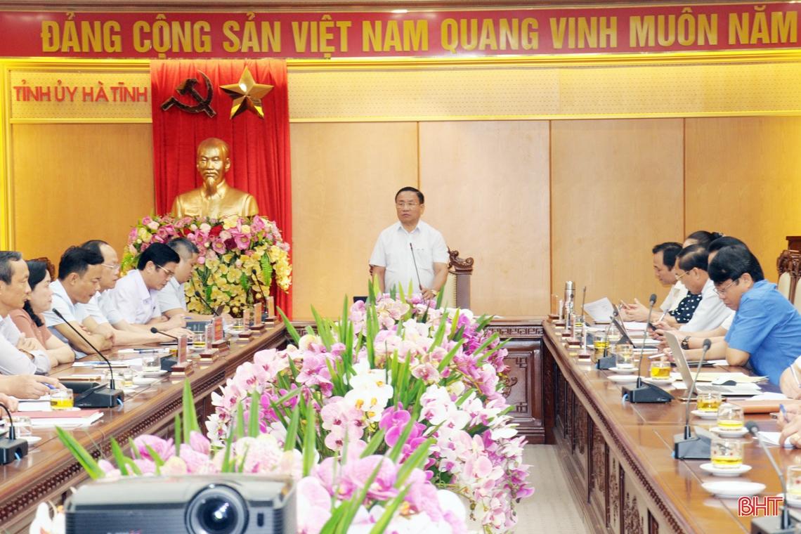 Khẩn trương rà soát, tháo gỡ khó khăn từng công trình, dự án chào mừng Đại hội Đảng bộ tỉnh Hà Tĩnh