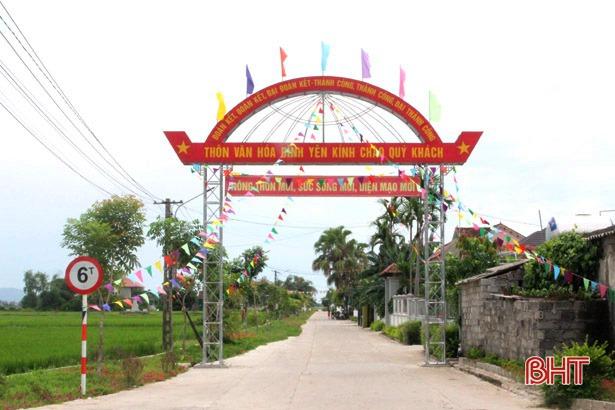 Can Lộc có thêm 10 khu dân cư nông thôn mới kiểu mẫu