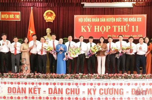 HĐND huyện Đức Thọ bầu các chức danh Chủ tịch HĐND và Chủ tịch, Phó Chủ tịch UBND huyện