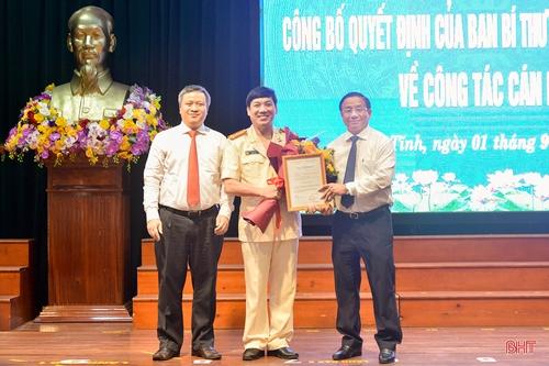 Ban Bí thư Trung ương Đảng chỉ định Giám đốc Công an tỉnh Hà Tĩnh tham gia Ban Thường vụ Tỉnh ủy