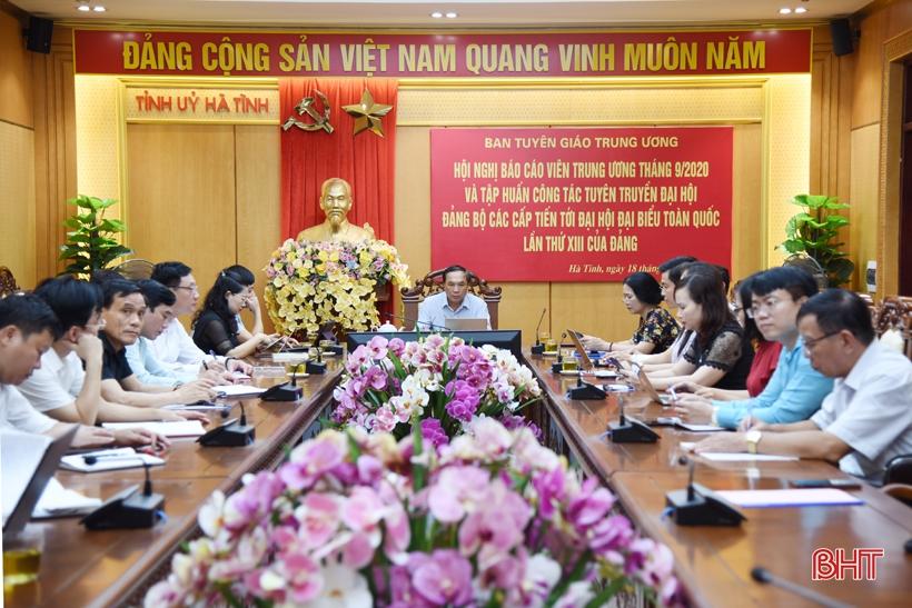 Hà Tĩnh cùng một số tỉnh ủy, thành ủy có nhiều cách làm hay, sáng tạo trong đại hội Đảng