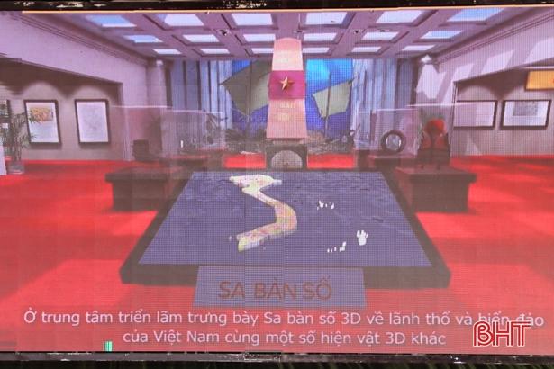 """Triển lãm số 3D """"Hoàng Sa - Trường Sa của Việt Nam - Những bằng chứng lịch sử và pháp lý"""" tại trường THPT Lê Quảng Chí - Thị xã Kỳ Anh"""