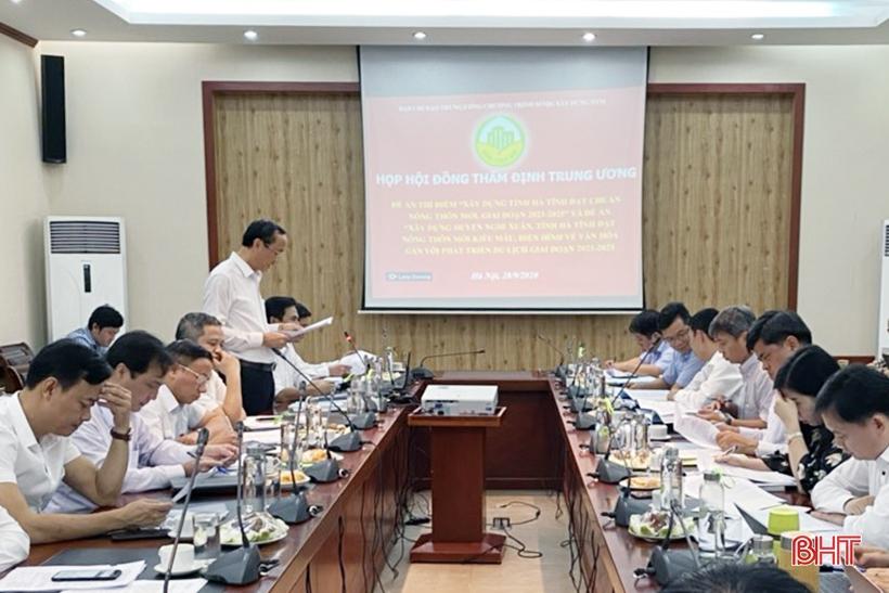 Thống nhất trình Thủ tướng phê duyệt Đề án thí điểm tỉnh Hà Tĩnh đạt chuẩn nông thôn mới