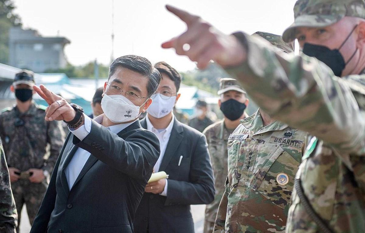 Bộ trưởng Quốc phòng Hàn Quốc thăm làng đình chiến với Triều Tiên