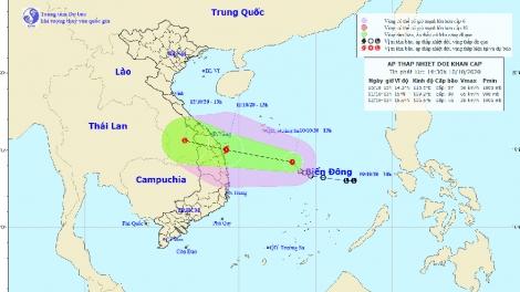 Sẽ có 3 ATNĐ/bão, kèm 2 đợt không khí lạnh xảy ra ở miền Trung trong 10 ngày tới