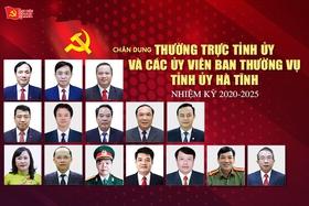 Chân dung các Ủy viên Ban Thường vụ Tỉnh ủy Hà Tĩnh nhiệm kỳ 2020-2025