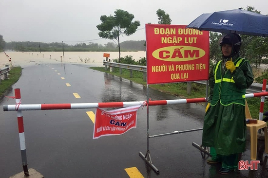 Lũ trên các sông ở Hà Tĩnh có khả năng lên trên mức báo động III