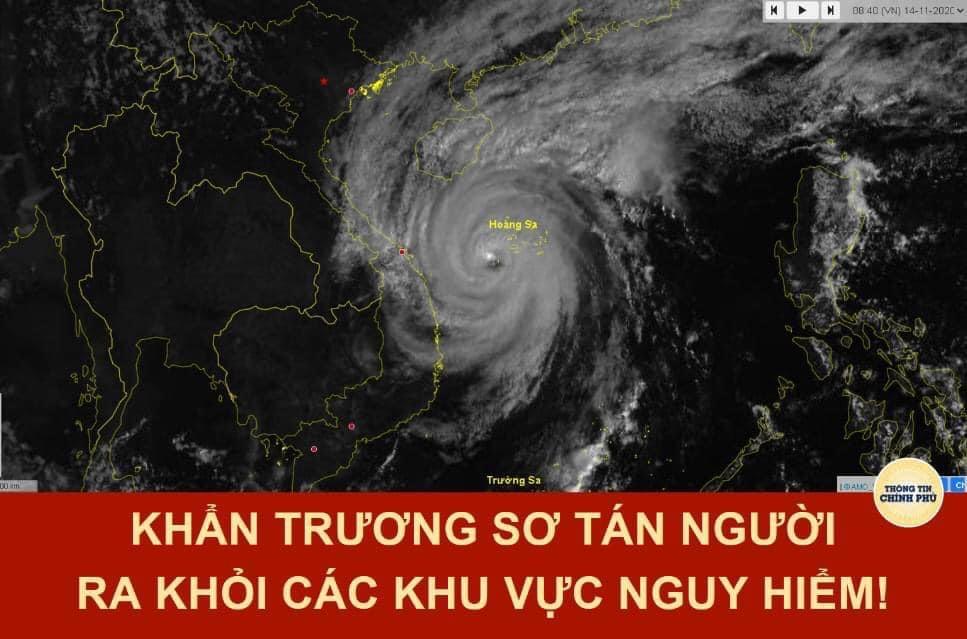 CÔNG ĐIỆN CỦA UBND TỈNH VỀ VIỆC ỨNG PHÓ KHẨN CẤP VỚI BÃO VAMCO (cơn bão số 13)