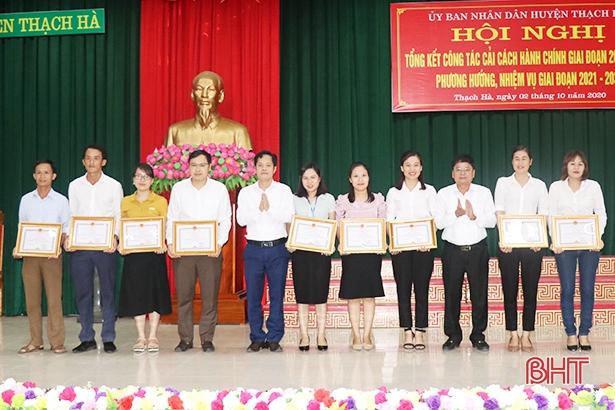 Thạch Hà tiếp tục giữ vững vị trí tốp đầu về chỉ số cải cách hành chính
