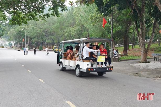 Khu di tích Ngã ba Đồng Lộc đưa dịch vụ xe điện phục vụ du khách từ đầu tháng 12/2020
