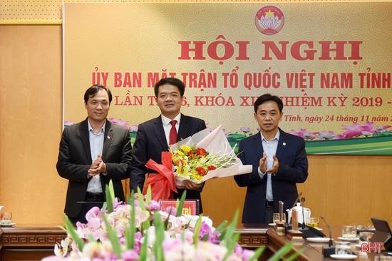 Ông Trần Nhật Tân giữ chức vụ Chủ tịch Ủy ban MTTQ tỉnh Hà Tĩnh