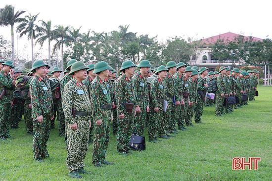 Hà Tĩnh hoàn thành luyện tập chỉ huy - tham mưu 1 bên 2 cấp trên bản đồ và ngoài thực địa