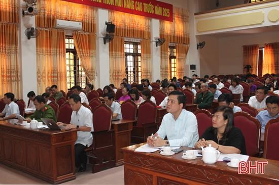 Can Lộc trao đổi kinh nghiệm để nâng cao chất lượng việc học tập và làm theo Bác
