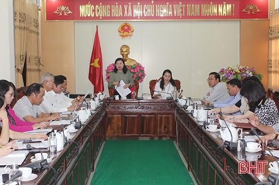 Sớm hoàn thiện các nội dung liên quan đến lĩnh vực văn hóa, giáo dục trình kỳ họp HĐND Hà Tĩnh