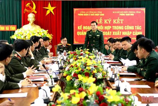 Công an, Bộ đội Biên phòng Hà Tĩnh phối hợp kiểm soát xuất nhập cảnh