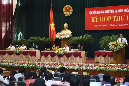 Kỳ họp thứ 18 HĐND tỉnh Hà Tĩnh: Miễn nhiệm và bầu nhiều chức danh chủ chốt, chất vấn 4 nhóm vấn đề
