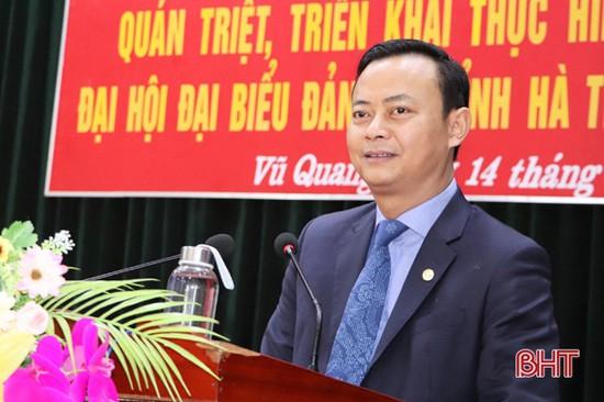 Đảng bộ Quân sự tỉnh, huyện Vũ Quang triển khai đưa Nghị quyết Đại hội Đảng vào cuộc sống