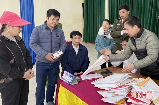 Đấu giá 17 lô đất ở Lộc Hà vượt giá khởi điểm gần 16 tỷ đồng