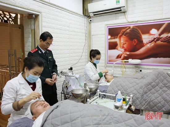 Đình chỉ 1 thẩm mỹ viện trái phép tại thành phố Hà Tĩnh