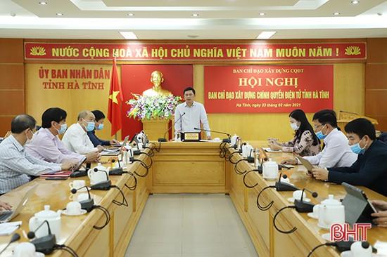 Hà Tĩnh phấn đấu thuộc nhóm 15 tỉnh, thành đứng đầu về chính quyền số vào năm 2030
