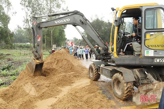 Xã đầu tiên ở Nghi Xuân phát động phong trào xây dựng NTM kiểu mẫu