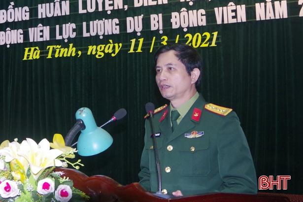 Năm 2021, Hà Tĩnh dự kiến động viên gần 2.000 quân nhân dự bị