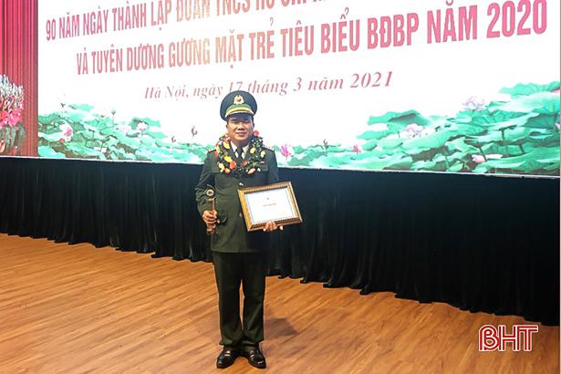 Đại úy Hà Tĩnh được tuyên dương gương mặt trẻ Bộ đội biên phòng tiêu biểu toàn quốc