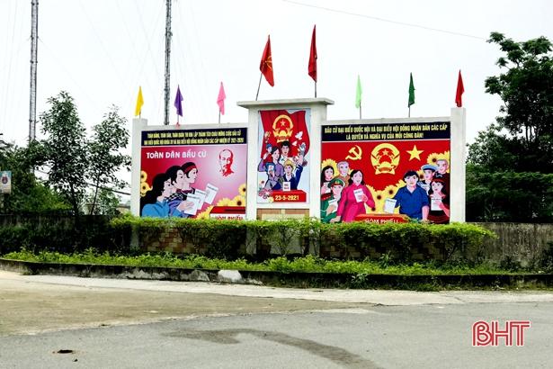 Cư dân đô thị phía Nam Hà Tĩnh hướng về ngày hội bầu cử bằng nhiều phần việc