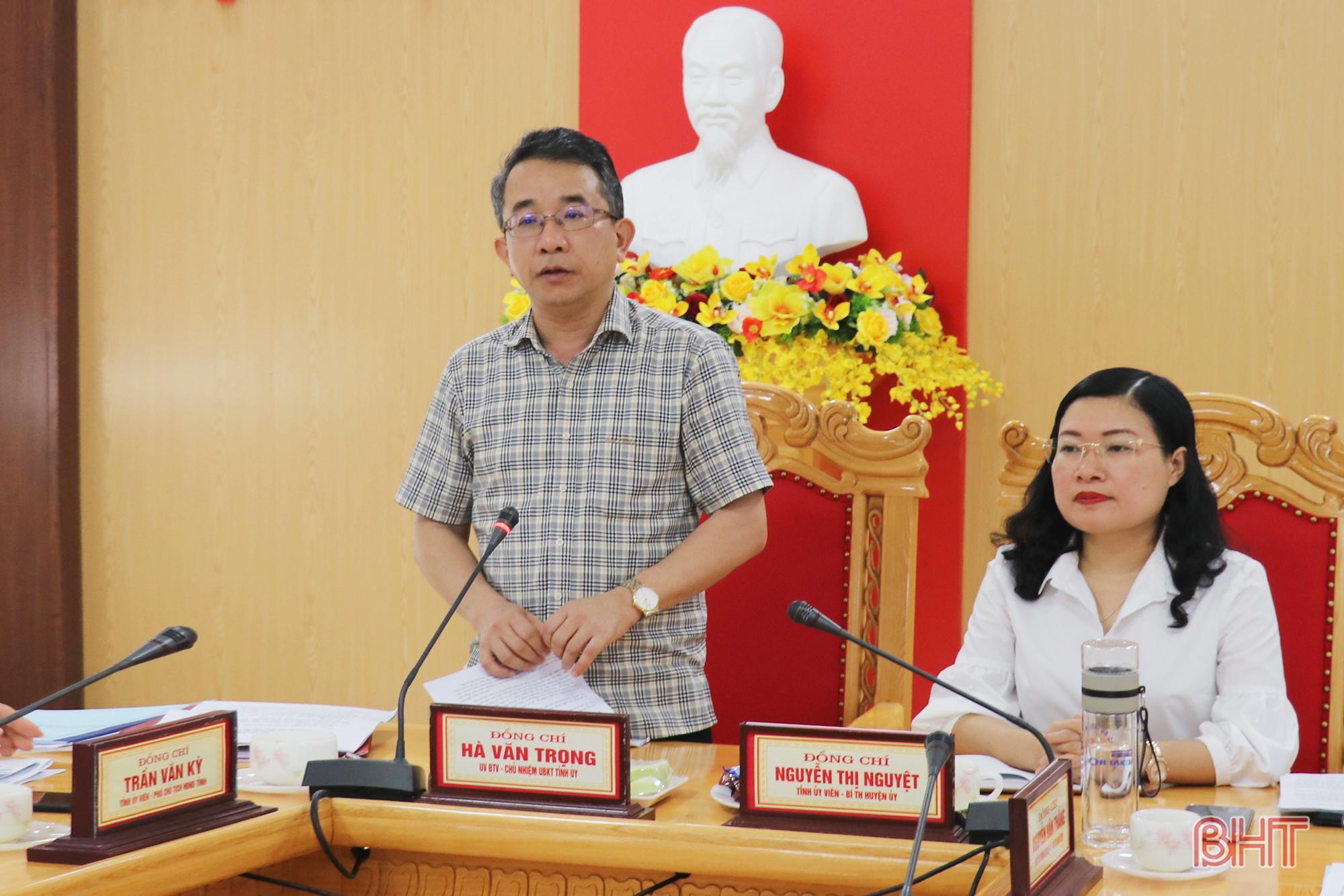 Thạch Hà cần chủ động các phương án về công tác nhân sự trong bầu cử