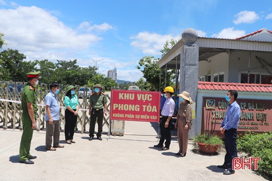Phong tỏa tạm thời Nhà máy Sản xuất gỗ MDF, HDF Thanh Thành Đạt do liên quan ca bệnh ở Hương Sơn