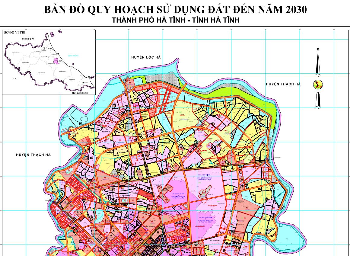 """Về việc lấy ý kiến góp ý của nhân dân về """"Lập quy hoạch sử dụng đất giai  đoạn 2021-2030 thành phố Hà Tĩnh"""""""
