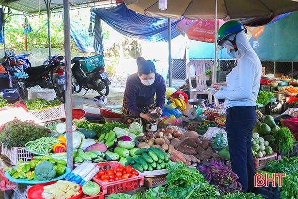 Thực phẩm đa dạng khi TP Hà Tĩnh chuyển sang giãn cách xã hội
