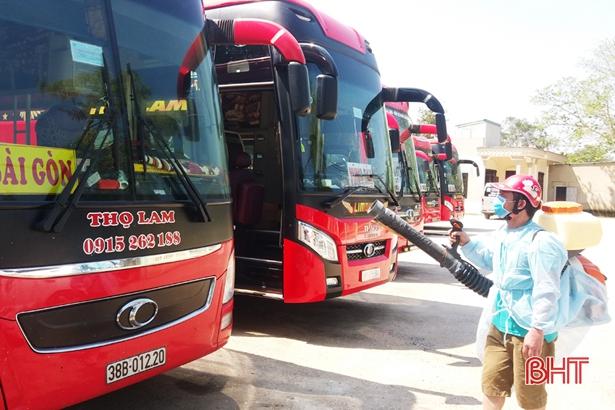 Hà Tĩnh yêu cầu tăng cường biện pháp chống lây nhiễm dịch Covid-19 trên phương tiện vận tải