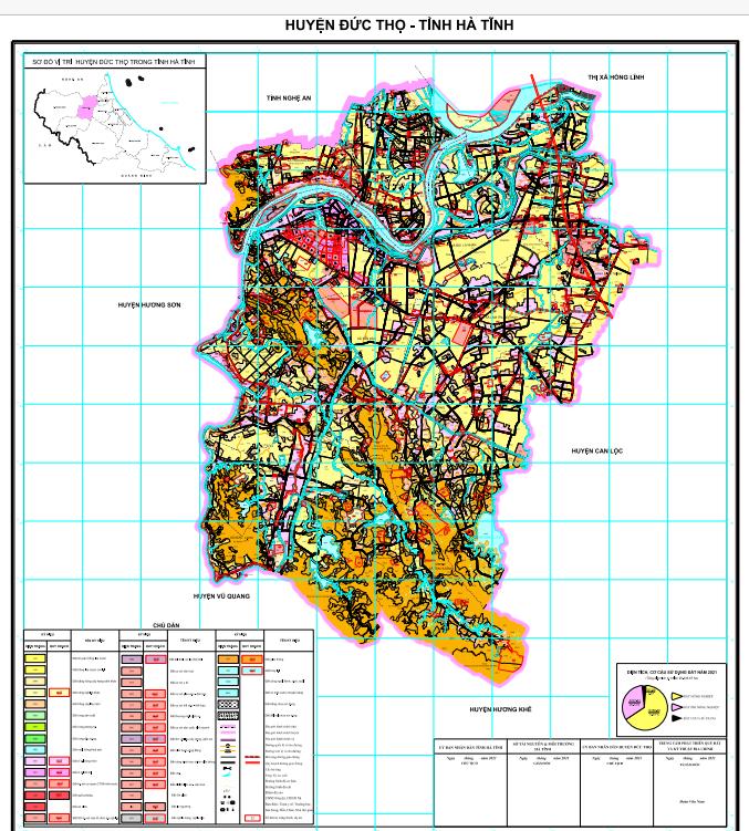 """Về việc lấy ý kiến góp ý của nhân dân về """"Quy hoạch sử dụng đất đến năm 2030 của huyện Đức Thọ"""""""