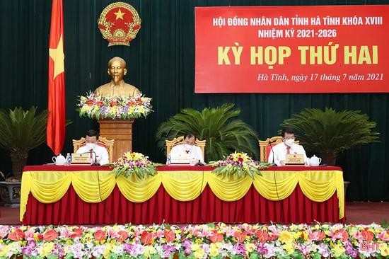 Khai mạc Kỳ họp thứ 2, Hội đồng nhân dân tỉnh Hà Tĩnh khóa XVIII