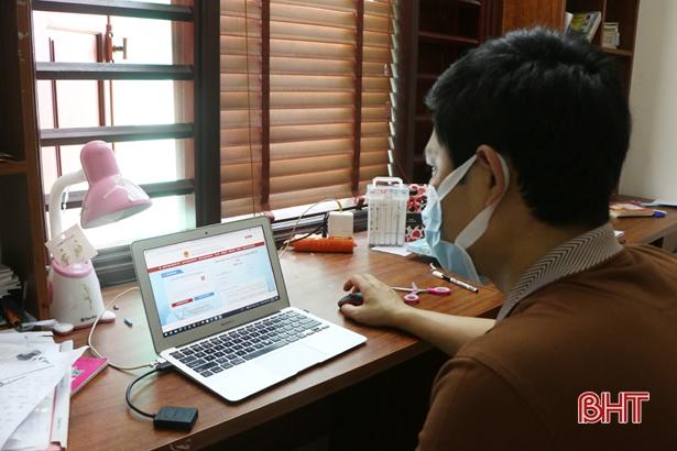 TP Hà Tĩnh tiếp nhận 822 hồ sơ dịch vụ công trực tuyến