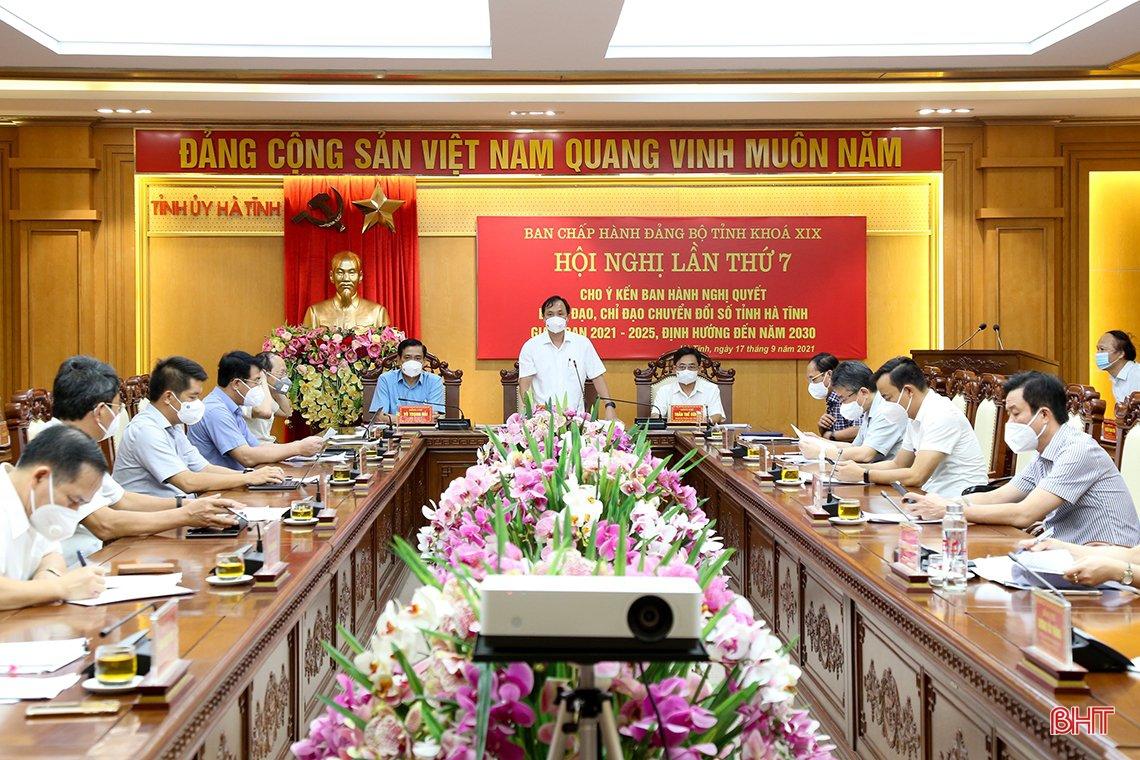Ban Chấp hành Đảng bộ tỉnh Hà Tĩnh thống nhất ban hành Nghị quyết về chuyển đổi số