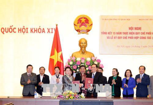 Nâng cao hiệu quả phối hợp giữa UBTVQH và Đoàn Chủ tịch Ủy ban Trung ương MTTQVN