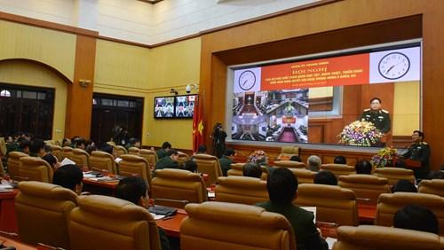 Cán bộ chủ chốt toàn quân học tập, quán triệt Nghị quyết Trung ương 6