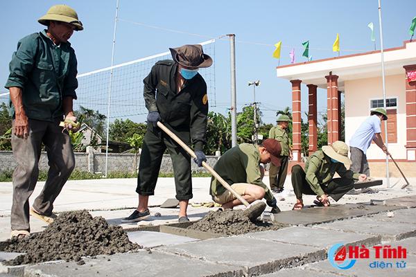 Hơn 230 học viên an ninh tham gia xây dựng NTM tại Can Lộc